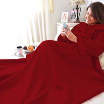 Cobertor Com Manga Em Soft - Adulto - Vermelho