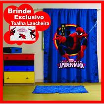 Cortina Inf. Para Varão + Brinde Homem Aranha Spider Man