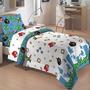 Edredom Angry Birds Solteiro - Camesa - Branco Com Azul