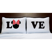 Fronhas Personalizada Love Mickey E Minnie