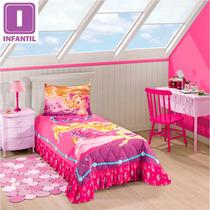Colcha Matelasse Infantil Barbie 2 Pcs Pink Lepper