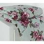 Manta Mink Soft Cobertor Queen Azul E Rosa Floral Microfibra