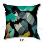 Almofada Heróis Batman Geek Enchimento Zíper Pronta Entrega