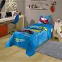 Jogo De Cama Infantil Lepper Hot Wheels Azul E Amarelo