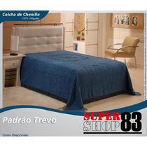 Colcha De Chenille Casal Trevo 2,00 X 2,20