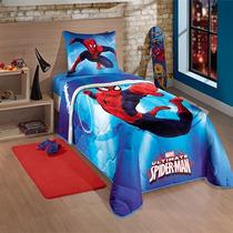 Edredom Solteiro Infantil Lepper Spider Man Ultimate
