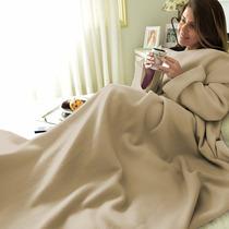Cobertor Com Mangas Em Soft Adulto - Nude