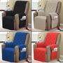 Protetor Para Proltrona Sofa 1 Peça Com Vieis Varias Cores