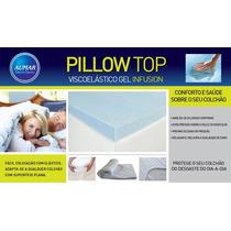 Pillow Top Viscoelástico Nasa Gel Casal 1,38 X1,88
