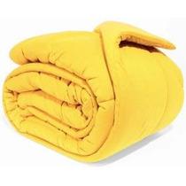 Edredom De Malha Queen Amarelo 100% Algodão Fio 30/1 Eu