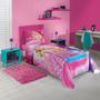 Jogo De Lençol 3 Peças Solteiro Barbie Rock Royals - Lepper