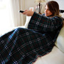 Cobertor Com Mangas Em Soft Adulto - Xadrez Clássico