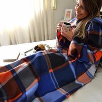 Cobertor Com Manga Em Soft - Varias Cores - Unisex - Adulto
