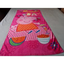 Toalha Banho Infantil Estilo Pepa Pig 1,40m X 0,75m