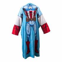 Cobertor Infantil Manga/ Braços Marvel Capitao America