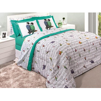 Cobre-leito Casal + 2 Porta-travesseiros 150 Fios - Canto