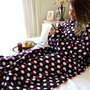 Cobertor Com Mangas Em Soft Adulto Com Bolinhas - Lux Confor