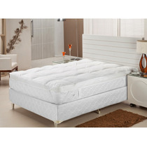 Pillow Top King Enchimento De Fibra Siliconizada -plumasul