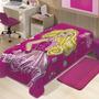 Cobertor Jolitex Solteiro Raschel Toque Macio Barbie