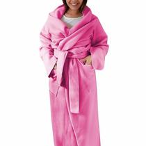 Cobertor Com Manga, Bolso E Cinta 4 Em 1 - Adulto - Cor Rosa