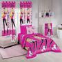 Edredom Dupla Face Solteiro 100% Algodão Barbie Rock - Sa