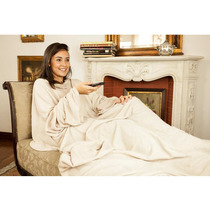 Cobertor De Tv Com Mangas Solteiro Bege - Loani