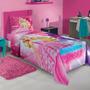 Jogo De Cama Infantil Barbie Rock Royals - Lepper
