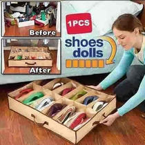 Sapateira Flexível Organizadora De Sapato Salto 12 Pares