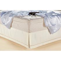 Saia Cama Box Classic Solteiro King Ponto Palito 100%algodão