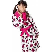 Roupão Infantil Fleece Estampado Monster High Lepper