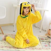 Pijama Adulto Macacão Pluto Disney Com Capuz