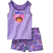 Pijama Dora Aventureira Infantil Importado Meninas 2 E 4 Ano