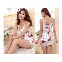 Pijama Feminino Camisola Floral Baby Doll