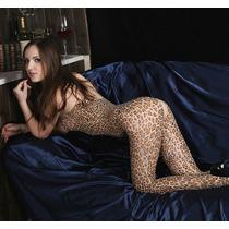 Lingerie Body Erotico Leopardo Deliciosamente Super Sexy