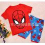 Pijama Curto Infantil Masculino Homem Aranha Importado