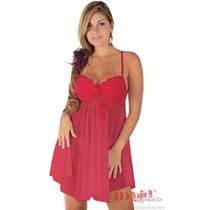 Camisolas Sensuais Charlote Vermelha + Calcinha | Sexy