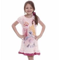 Camisola Princesas Disney Infantil Rosa - Numeros 2 E 6