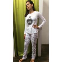 Pijama Hering - Blusa Em Malha - Calça Em Moletom