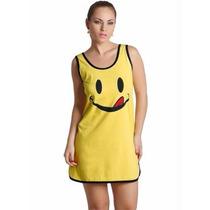 Pijama Camisola Feminino Amarelo - Tamanhos Plus Size