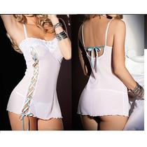 Camisola Noite Sexy + Calcinha Baby Doll -pronta Entrega