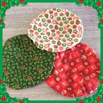 Capas Para Sousplat De Natal (6 Peças)