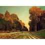 Suporte De Pratos E Copos Pintura De Monet Road From Chailly
