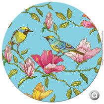 Sousplat Ps 33x33 Birds With Flowers 02