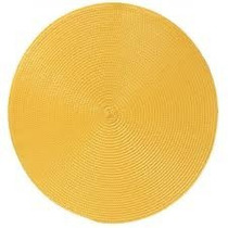 Kit C/ 4 Jogo Lugar Americano Redondo Amarelo Palha 35 Cm