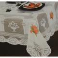 Toalha De Mesa Renda 6 Cadeiras 100% Polyester 2,20x1,6m