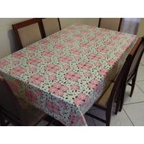 Toalha De Mesa Plastica 6 Cadeiras Pvc Alto Relevo 2,2x1,4m
