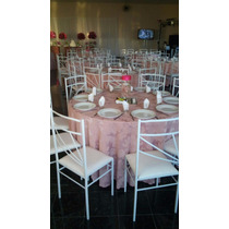 18 Toalha De Mesa Jacquard Redonda 2,80 Mts. Buffet Festas