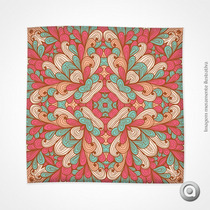 Toalha De Mesa Floral Circular Vermelha E Verde 144x144