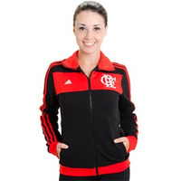 Jaqueta Feminina Flamengo Adidas Rubro Negra
