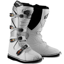 Bota Combat White/black Motocross Pro Tork + Brinde